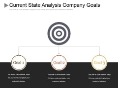 Current State Analysis Company Goals Ppt PowerPoint Presentation Professional Portfolio