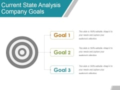 Current State Analysis Company Goals Ppt Powerpoint Presentation Slides Designs