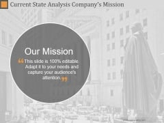 Current State Analysis Companys Mission Ppt PowerPoint Presentation Files