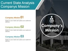 Current State Analysis Companys Mission Ppt Powerpoint Presentation Inspiration Design Inspiration