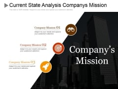 Current State Analysis Companys Mission Ppt PowerPoint Presentation Summary Ideas