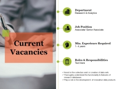 Current Vacancies Ppt PowerPoint Presentation File Portfolio