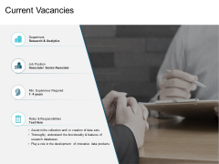 Current Vacancies Ppt PowerPoint Presentation Gallery Infographic Template