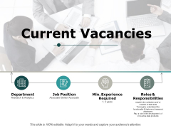 Current Vacancies Ppt PowerPoint Presentation Infographics Show