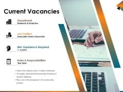 Current Vacancies Ppt PowerPoint Presentation Inspiration Templates