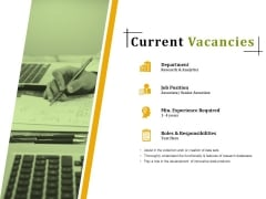 Current Vacancies Ppt PowerPoint Presentation Portfolio Master Slide