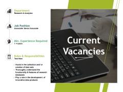 Current Vacancies Ppt PowerPoint Presentation Portfolio Slideshow