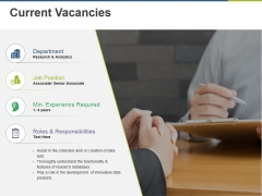 Current Vacancies Ppt PowerPoint Presentation Slide