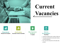 Current Vacancies Ppt PowerPoint Presentation Summary Deck