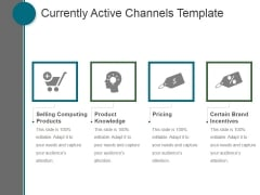 Currently Active Channels Template Ppt PowerPoint Presentation Show