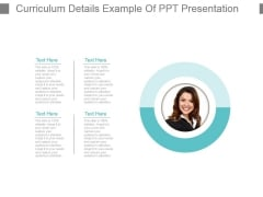Curriculum Details Example Of Ppt Presentation