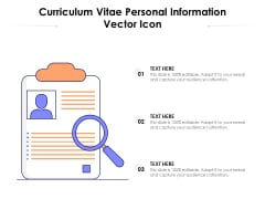 Curriculum Vitae Personal Information Vector Icon Ppt PowerPoint Presentation Outline Graphics PDF