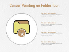 Cursor Pointing On Folder Icon Ppt PowerPoint Presentation Styles Samples