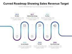 Curved Roadmap Showing Sales Revenue Target Ppt PowerPoint Presentation Outline Example Topics