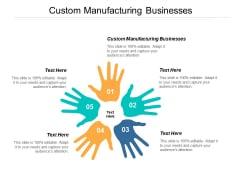 Custom Manufacturing Businesses Ppt PowerPoint Presentation Professional Design Ideas