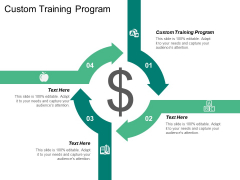 Custom Training Program Ppt Powerpoint Presentation Ideas Background Designs Cpb