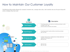 Customer 360 Overview How To Maintain Our Customer Loyalty Ppt Model Portrait PDF