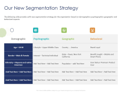 Customer 360 Overview Our New Segmentation Strategy Ppt Professional Graphics Pictures PDF