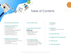 Customer 360 Overview Table Of Contents Ppt Styles Samples PDF