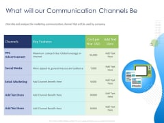 Customer 360 Overview What Will Our Communication Channels Be Ppt PowerPoint Presentation Outline Slides PDF