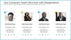 Customer Acquiring Price For Retaining New Clients Our Company Team Structure With Designations Slides PDF