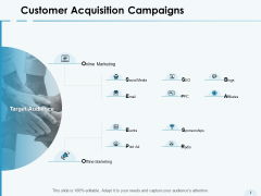 Customer Acquisition Campaigns Online Marketing Ppt PowerPoint Presentation Summary Layouts