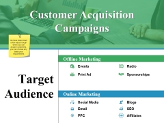 Customer Acquisition Campaigns Ppt PowerPoint Presentation Slides Aids