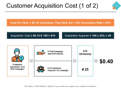 Customer Acquisition Cost 1 Of 2 Ppt PowerPoint Presentation Infographics Outline