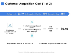 Customer Acquisition Cost Acquisition Ppt PowerPoint Presentation Icon Themes