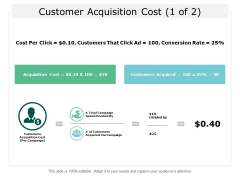 Customer Acquisition Cost Business Ppt Powerpoint Presentation Professional Topics