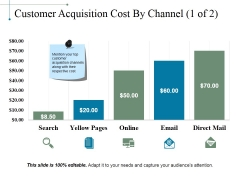 Customer Acquisition Cost By Channel Template 1 Ppt PowerPoint Presentation Infographic Template