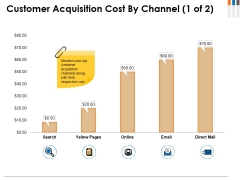 Customer Acquisition Cost By Channel Template 1 Ppt PowerPoint Presentation Model Inspiration