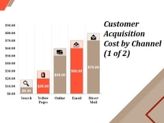 Customer Acquisition Cost By Channel Template 1 Ppt PowerPoint Presentation Show Graphic Tips