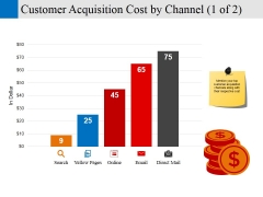 customer acquisition cost by channel template 1 ppt powerpoint presentation styles guide