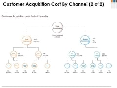 Customer Acquisition Cost By Channel Template 2 Ppt PowerPoint Presentation Styles Graphics