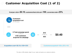 Customer Acquisition Cost Conversion Ppt PowerPoint Presentation File Show