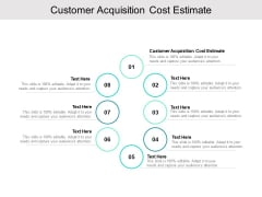 Customer Acquisition Cost Estimate Ppt PowerPoint Presentation Summary Portfolio Cpb