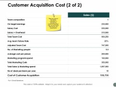 Customer Acquisition Cost Marketing Ppt Powerpoint Presentation Templates