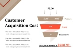 Customer Acquisition Cost Ppt PowerPoint Presentation Infographic Template Format