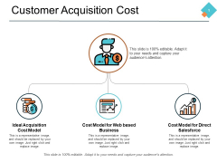 Customer Acquisition Cost Ppt PowerPoint Presentation Show Master Slide