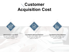 Customer Acquisition Cost Ppt PowerPoint Presentation Slides Backgrounds