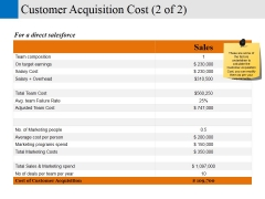 customer acquisition cost template 2 ppt powerpoint presentation layouts guide