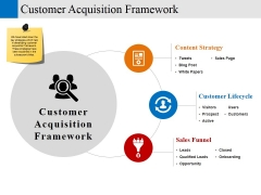 customer acquisition framework ppt powerpoint presentation file samples