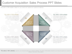 Customer Acquisition Sales Process Ppt Slides