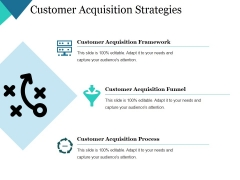 Customer Acquisition Strategies Ppt PowerPoint Presentation Outline Gallery