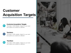 Customer Acquisition Targets Ppt PowerPoint Presentation Ideas Design Templates Cpb