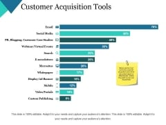 Customer Acquisition Tools Ppt PowerPoint Presentation File Display