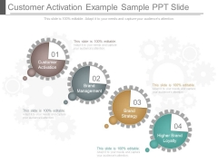 Customer Activation Example Sample Ppt Slide
