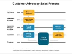 Customer Advocacy Sales Process Ppt PowerPoint Presentation File Images PDF
