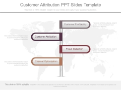 Customer Attribution Ppt Slides Template